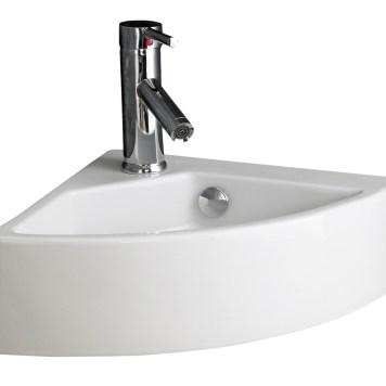 Wall Hung Corner Basin | Space Saving Corner 500mm x 340mm Bathroom Sink | Florence