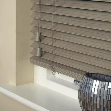 35mm Wood Essence Venetian Blind Stratus Grey
