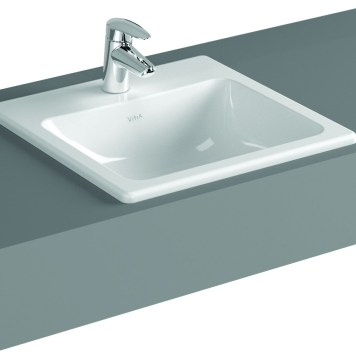 Vitra S20 Compact Countertop Ceramic Basin 500mm, 1 Tap Hole