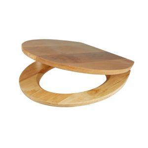 Cooke & Lewis Cervia Natural Oak effect Standard close Toilet seat