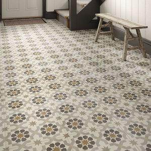 Agran Multicolour Matt Patterned effect Ceramic Floor tile Pack of 11 (L)300mm (W)300mm