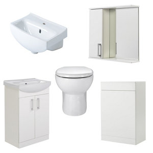 GoodHome Ardenno Back to wall Toilet & basin kit