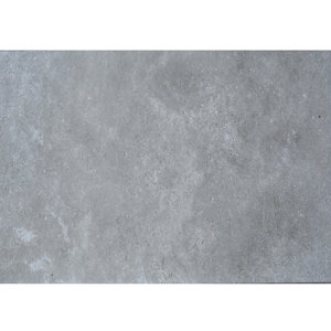 Bristol Grey Matt Glazed Tile Marble effect Porcelain Wall & floor Tile Pack of 6 (L)600mm (W)300mm