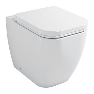 Cooke & Lewis Affini Contemporary Back to wall Toilet with Soft close seat