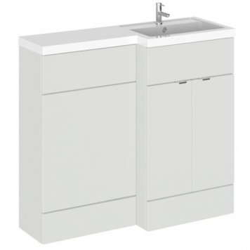 Fuji 100cm Right Handed Vanity With L-Shaped Basin In Grey Mist