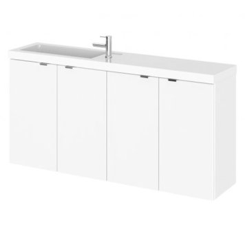 Fuji 100cm Wall Hung Vanity Unit With Basin In Gloss White