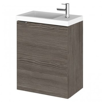 Fuji 40cm Wall Hung Vanity Unit With Basin In Brown Grey Avola