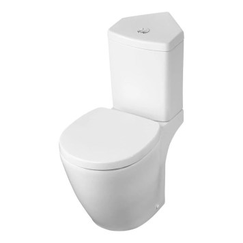 Ideal Standard Concept Space Close Coupled Toilet, Corner Cistern & Soft Close Seat