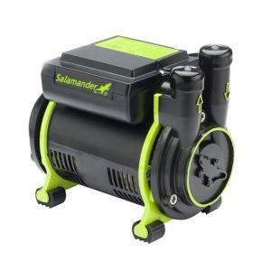 Salamander Pumps Single 1.5 Bar Shower Pump (H)160mm (W)120mm (L)185mm Black & Green