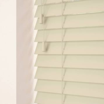 50mm Primary Wood Venetian Blinds Parchment