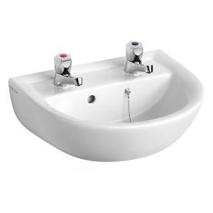 Armitage Shanks Sandringham 21 D-Shaped Wall-Mounted Cloakroom Basin (W)45Cm White