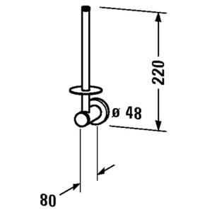Duravit D-Code Spare Paper Holder – chrome