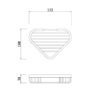 RAK Single Corner Basket – 150mm x 105mm x 28mm – Chrome
