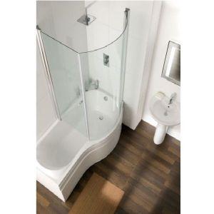Eastbrook Prado Type 1-2 Easy Clean Bath Screen – Right Handed – Silver