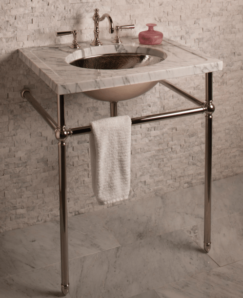 27 stone forest vintage sink console carrara marble