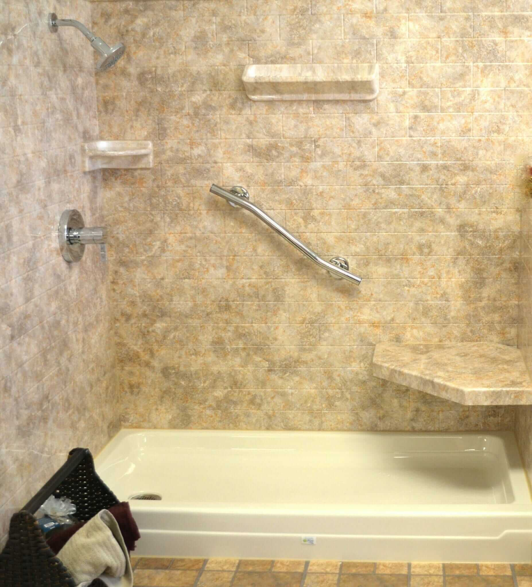 acrylic shower walls vs tile shower