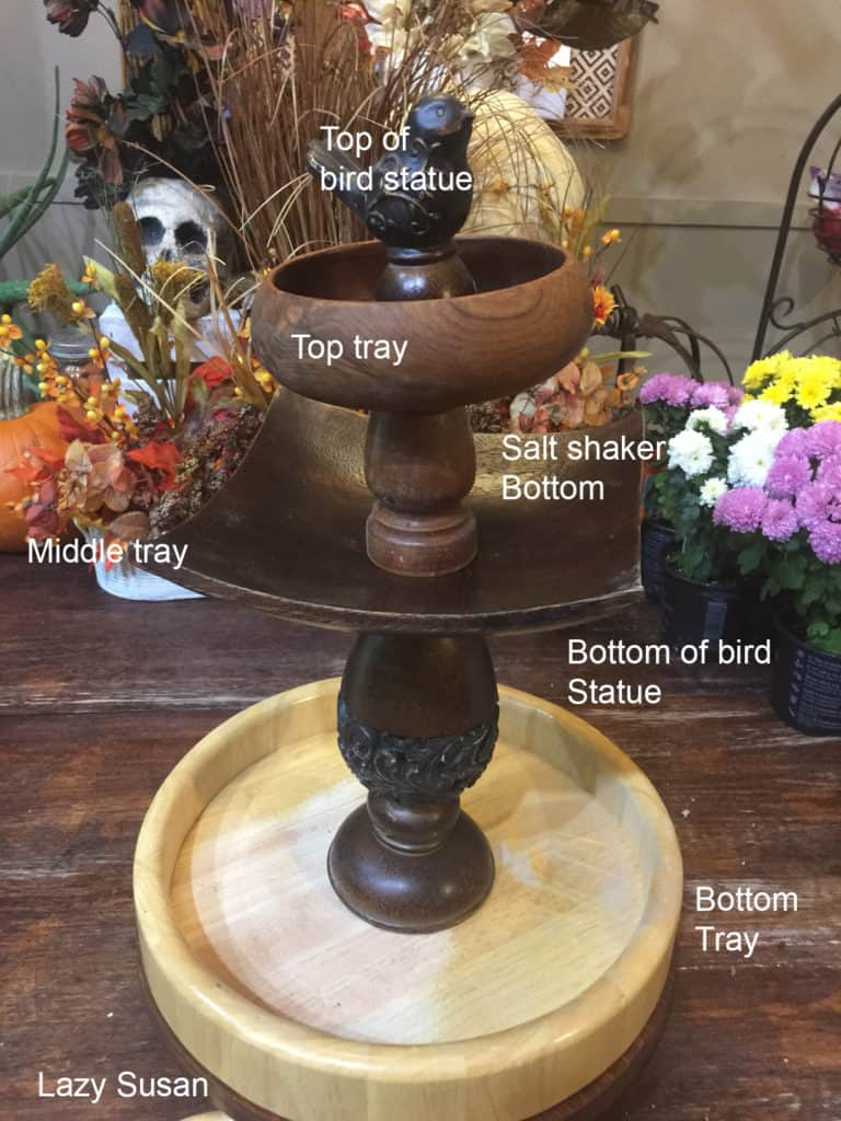 diy farmhouse style tiered tray
