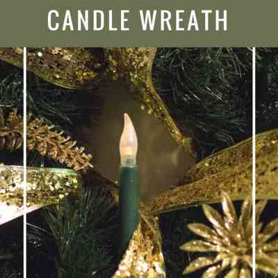 Create an Easy Vintage Style Candle Wreath