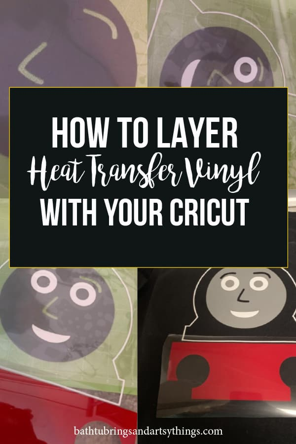 Are you getting started with HTV? This post will show you how to layer heat transfer vinyl using your Cricut and iron on vinyl. #htv #irononvinyl #layeringhtv