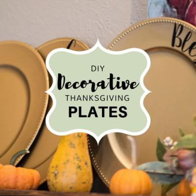 Amaze them with a Grateful Thankful Blessed DIY Thanksgiving Plate Decoration