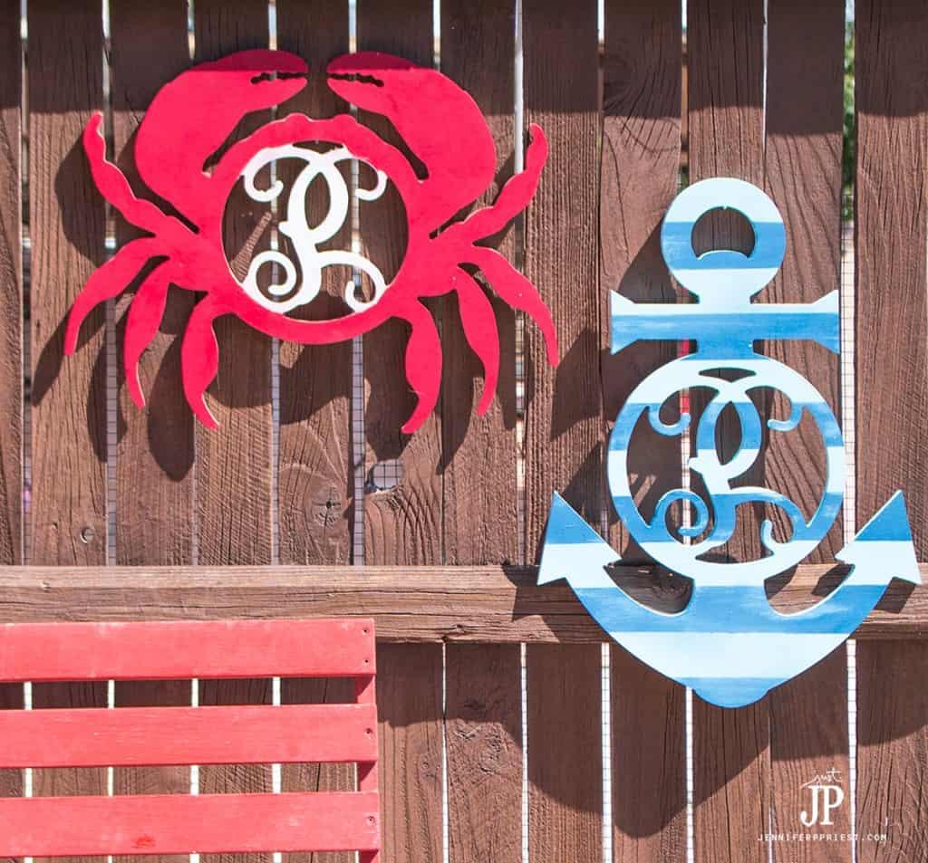 Cape Cod Nautical Backyard hanging decorations