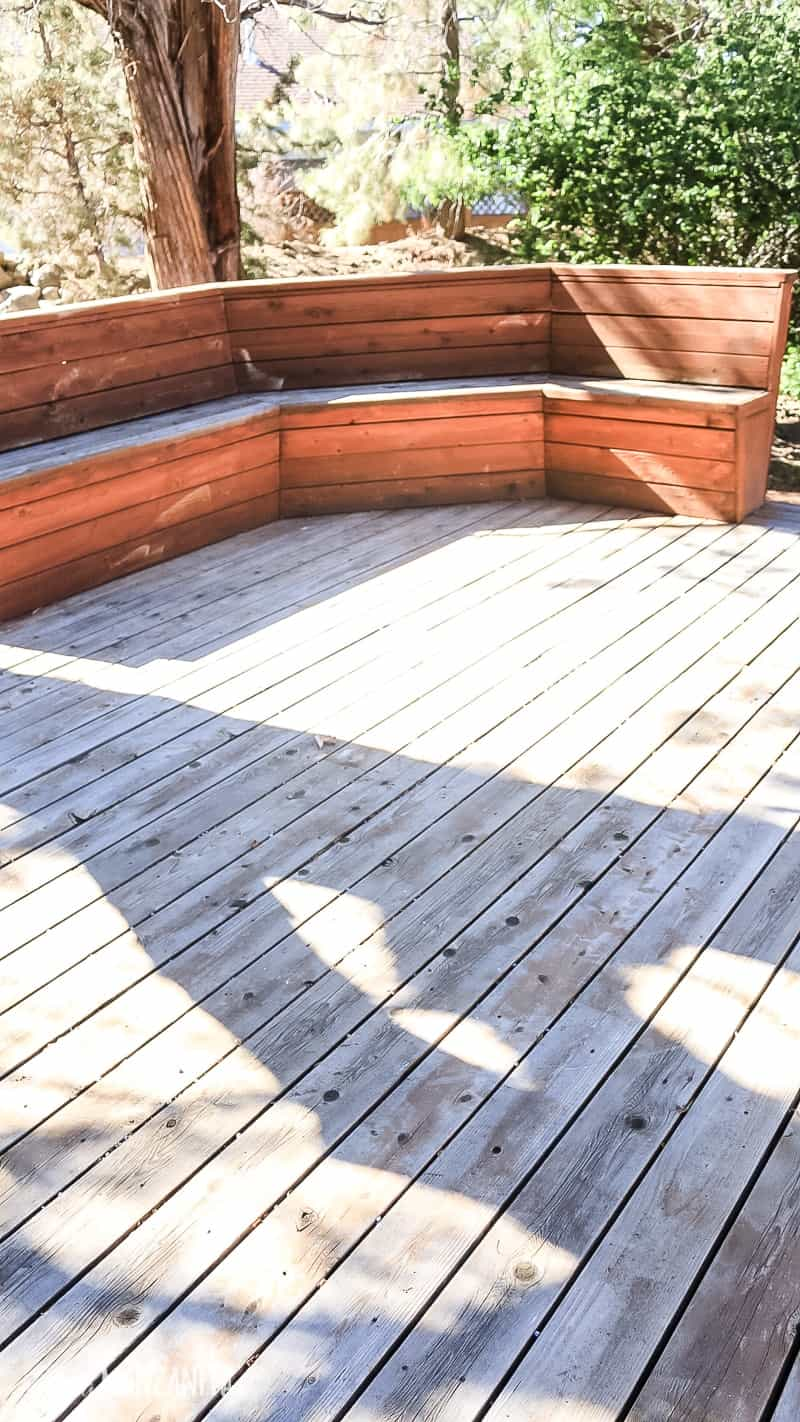 Refinish an old neglected deck