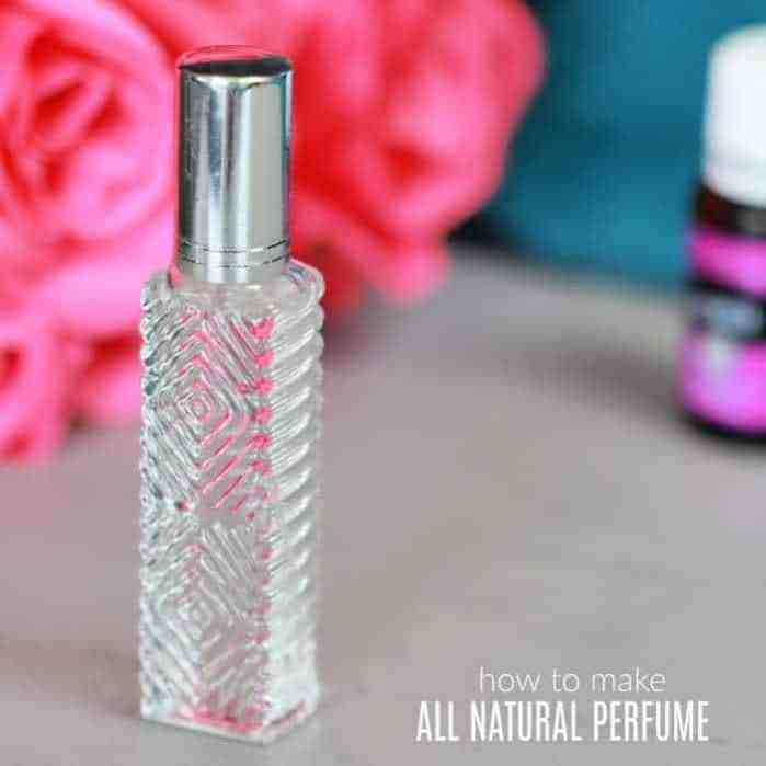 a clear perfume container