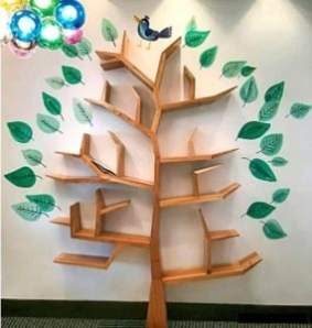 Use this tree shelf as a Book storage idea for your home