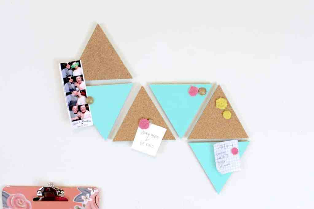 6 triangle shaped cork boards for teens