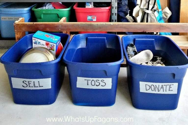 Easy tips to get your home organized different labeled bins