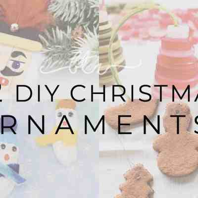 52 Handmade Christmas Ornaments that you can Make