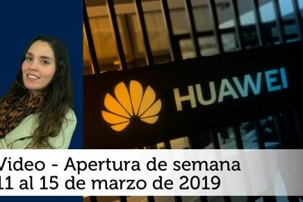 Video semanal: Del 11 al 15 de marzo de 2019