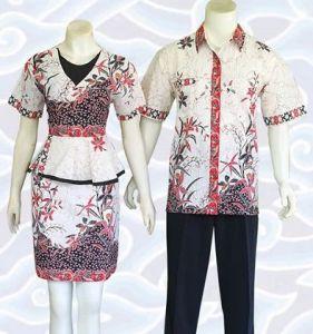 model baju batik couple modis