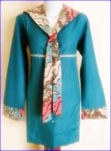 model batik kombinasi kain polos