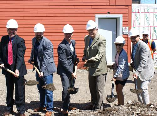 The construction site in Matane has started