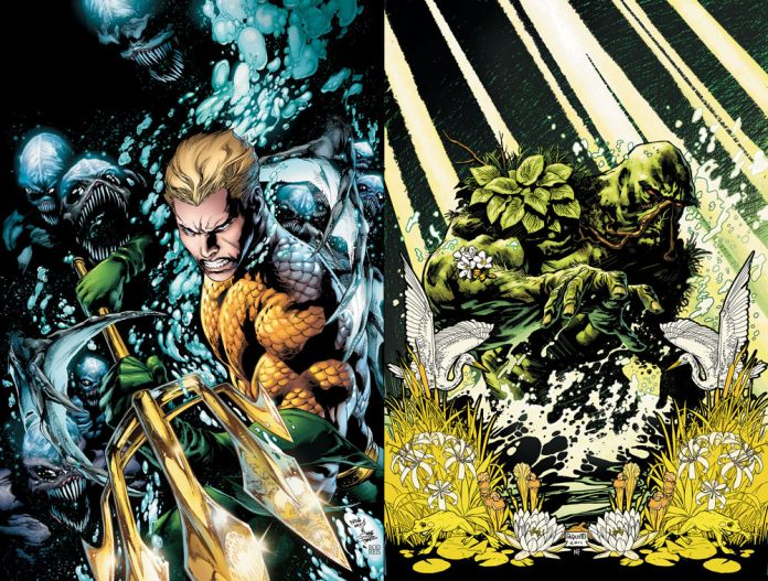 A Break From Batman Reviews Of Aquaman Vol1 Swamp Thing Vol1