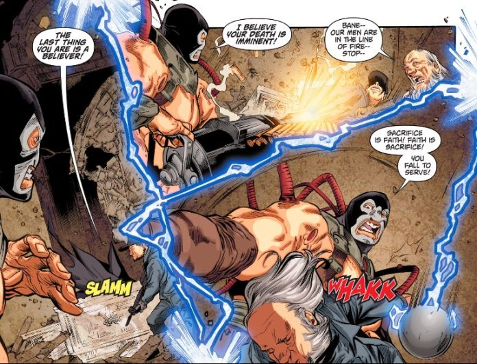 And Bane gains and loses that gun something like six times in four pages.