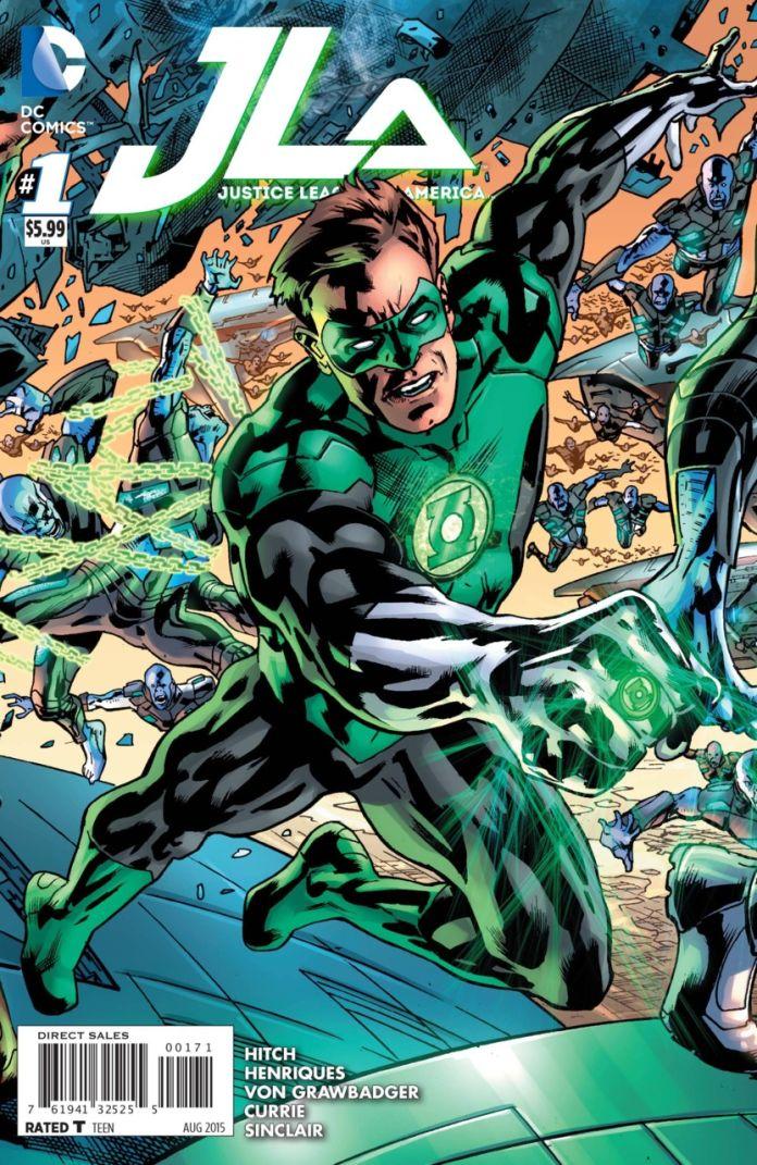 JLA 1 by Brian Hitch (Green Lantern)