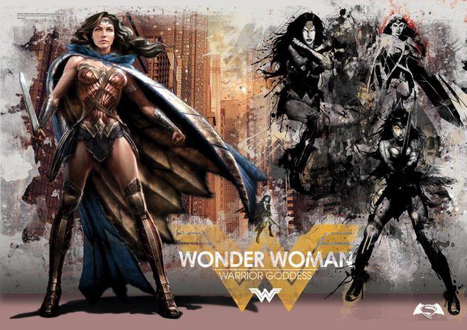 MP24170164 Batman vs Superman (Warrior Goddess) MightyPrint