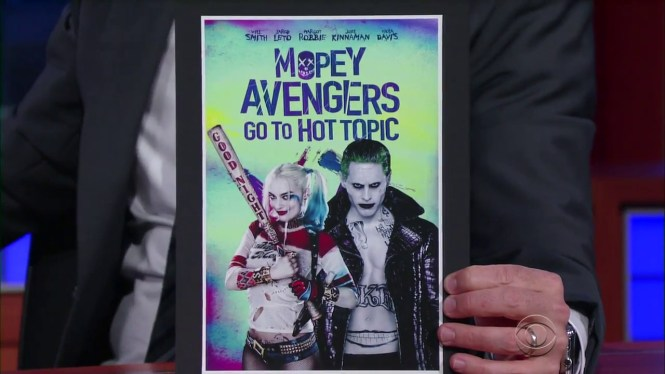 Stephen Colbert Suicide Squad Mopey Avengers
