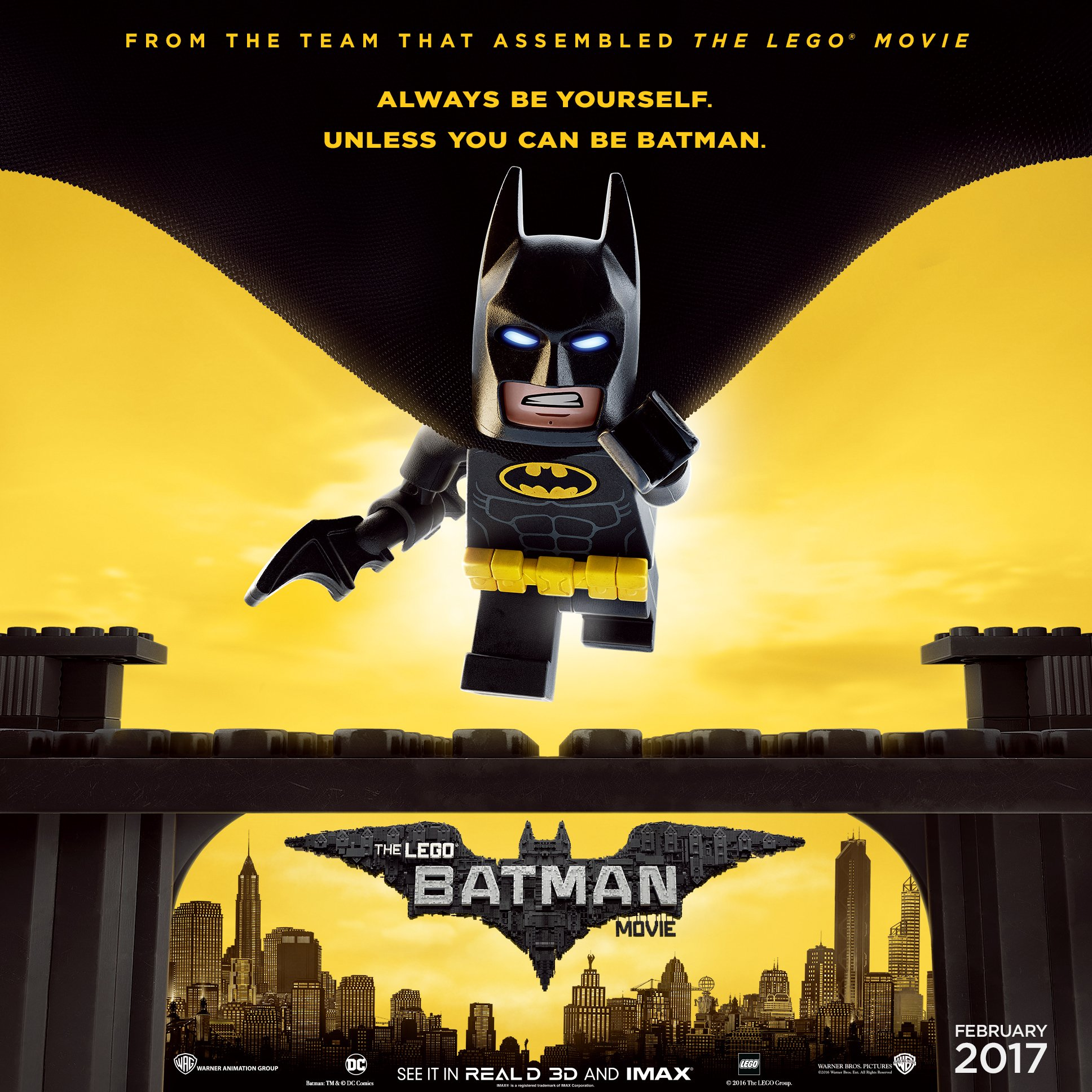 New 'The LEGO Batman Movie' Poster Reminds You To Be