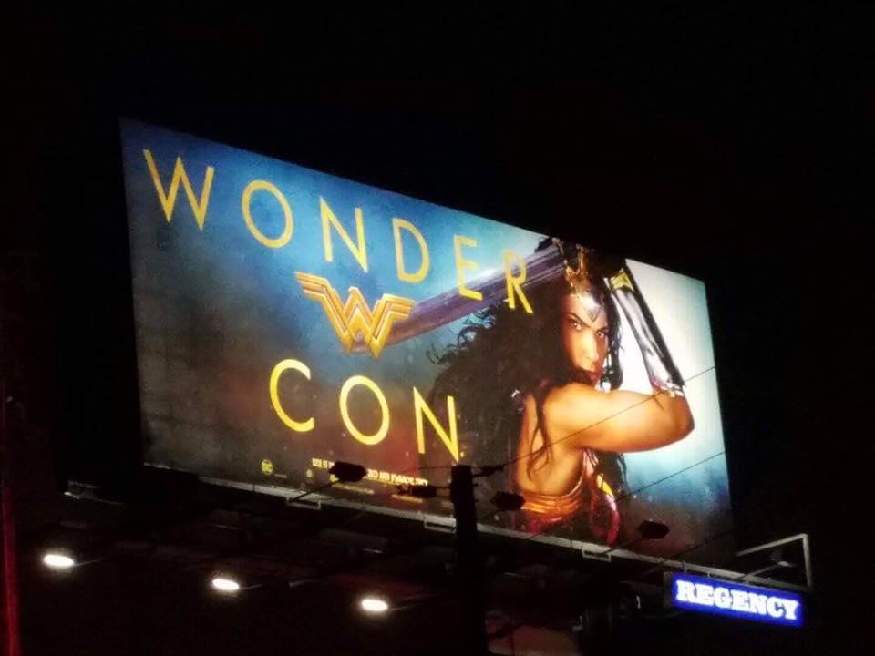 Wonder Woman billboard WonderCon
