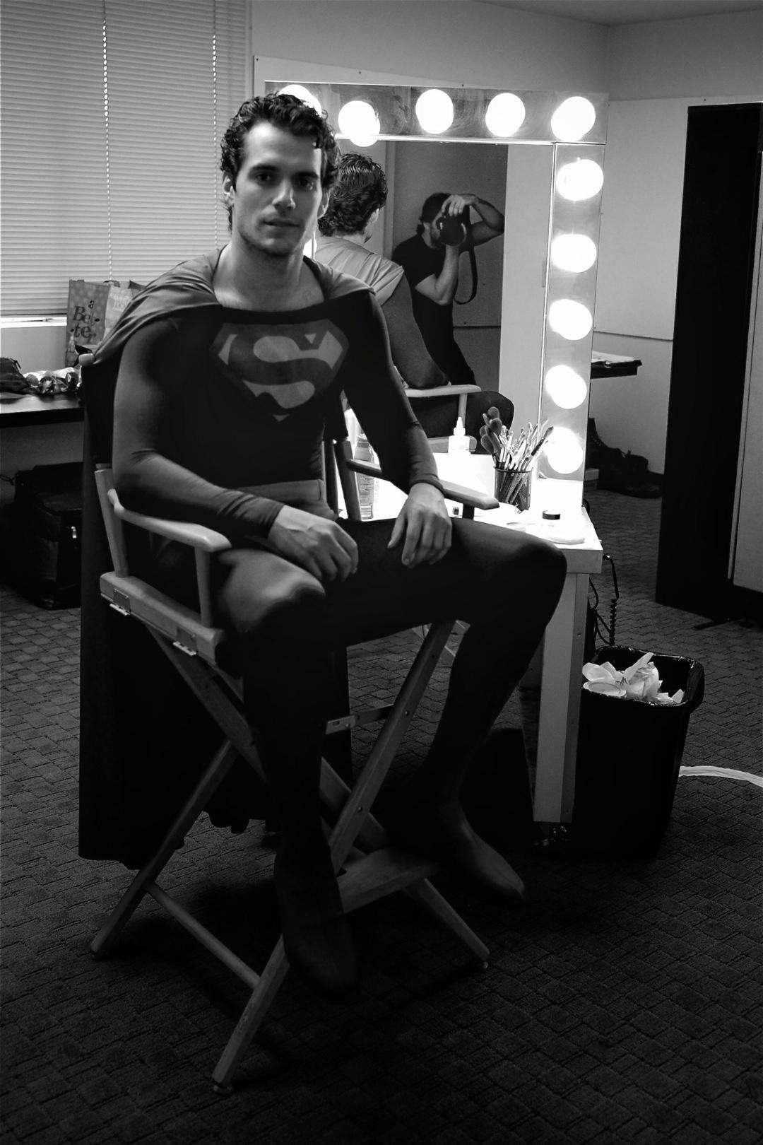 Cavill Reeve Superman Costume
