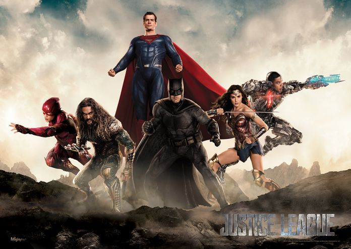 New \'Justice League\' wall art unites Superman with the team - Batman ...
