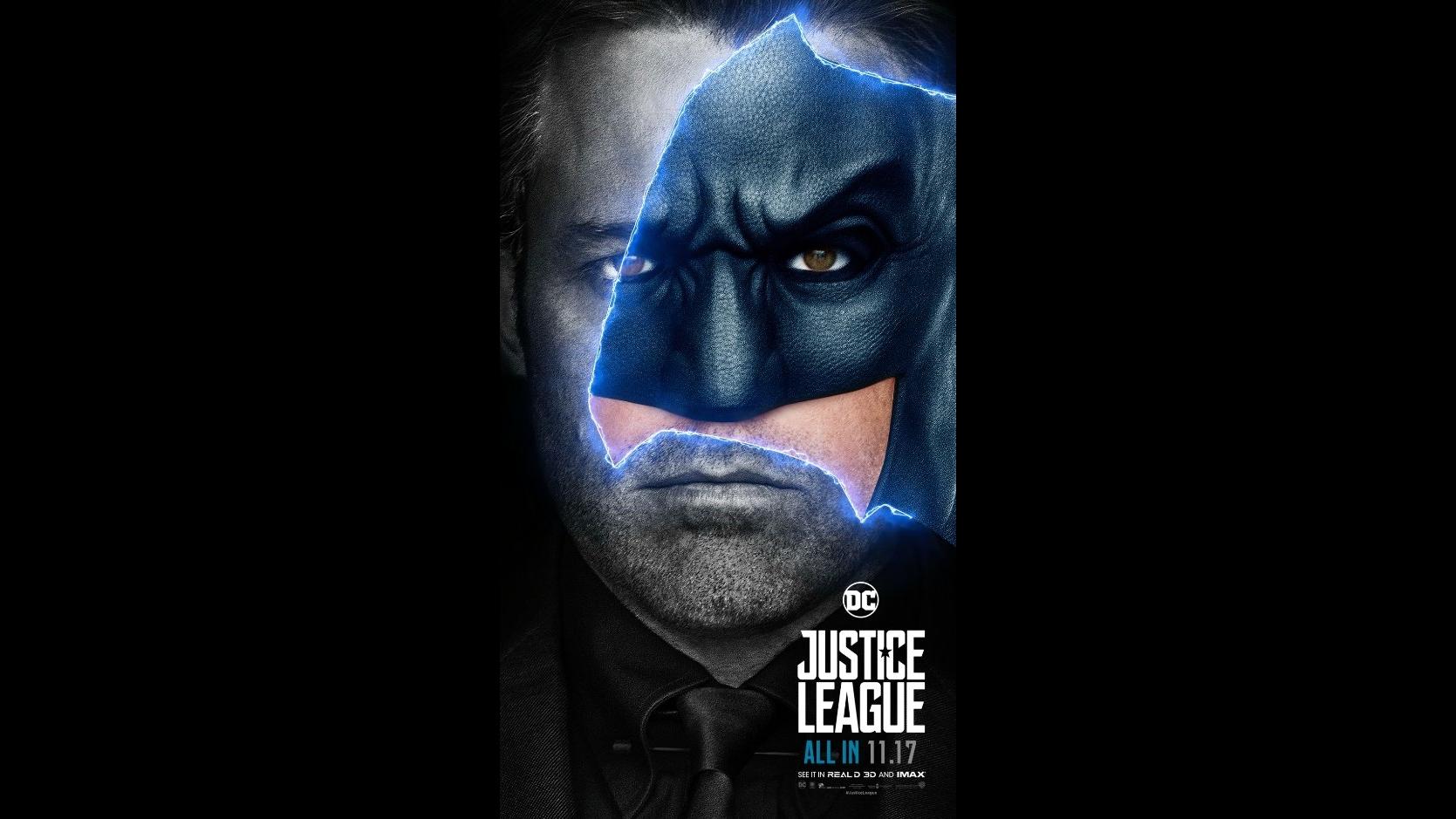 Ben Affleck Batman Motion Poster Justice League