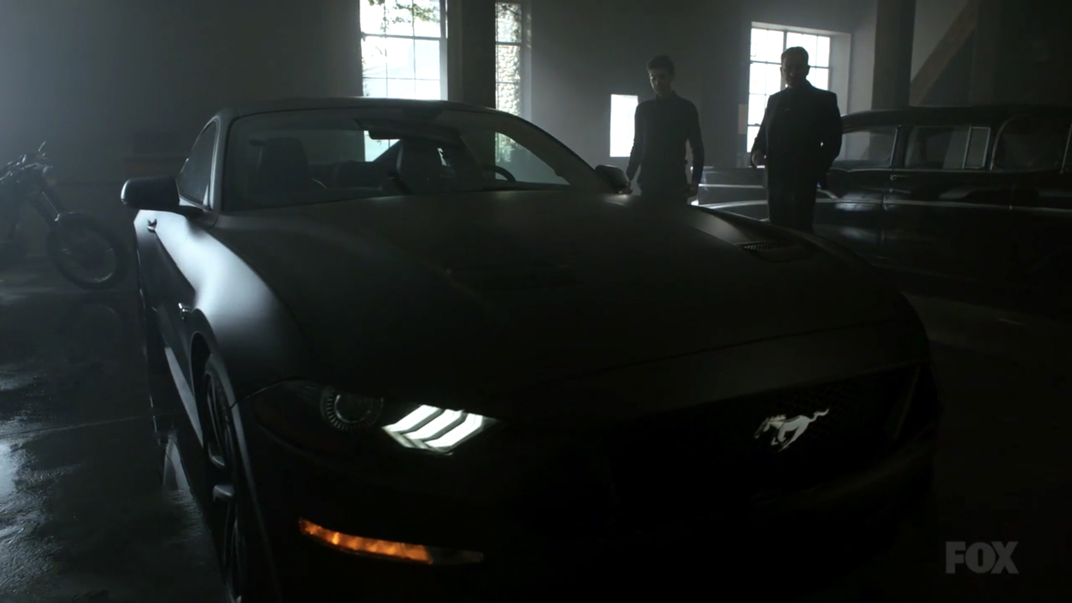 Black 2018 Ford Mustang >> Watch Bruce Wayne receive his first Batmobile on 'Gotham' - Batman News
