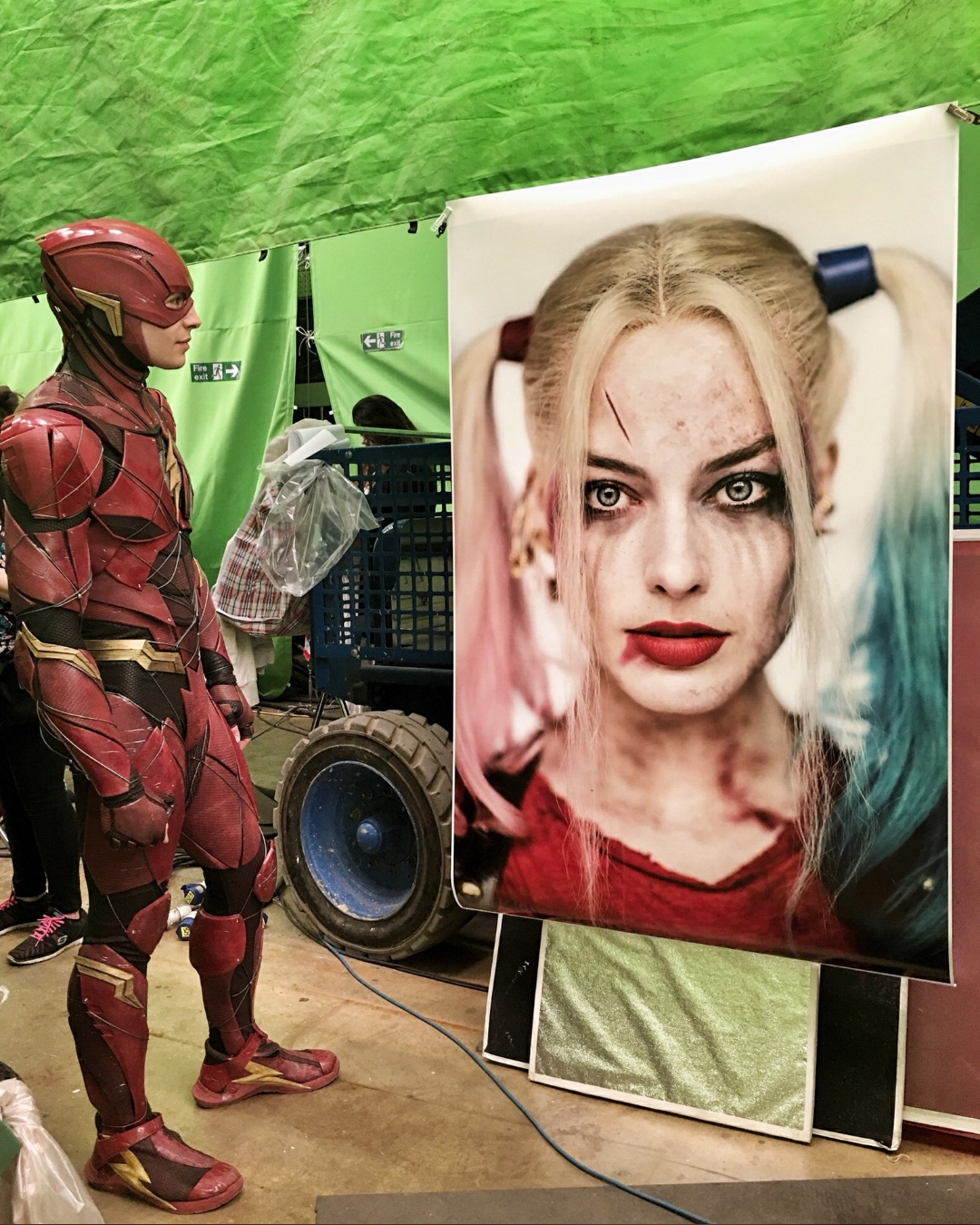 The Flash Harley Quinn Justice League