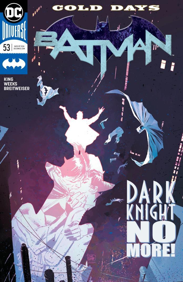 Capa de Batman #53, um dos destaques do Amálgama de hoje. Arte de Lee Weeks.