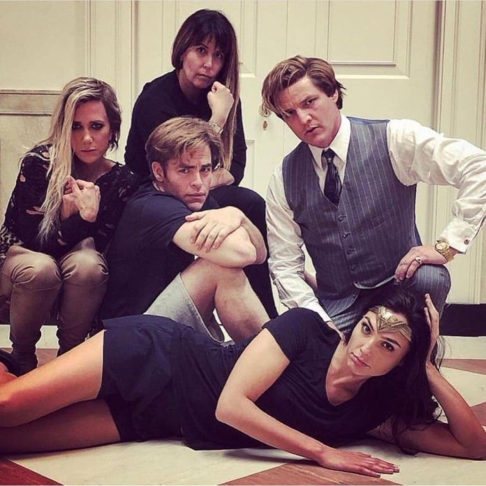 Gal Gadot And The Cast Of 'Wonder Woman 1984' Recreate