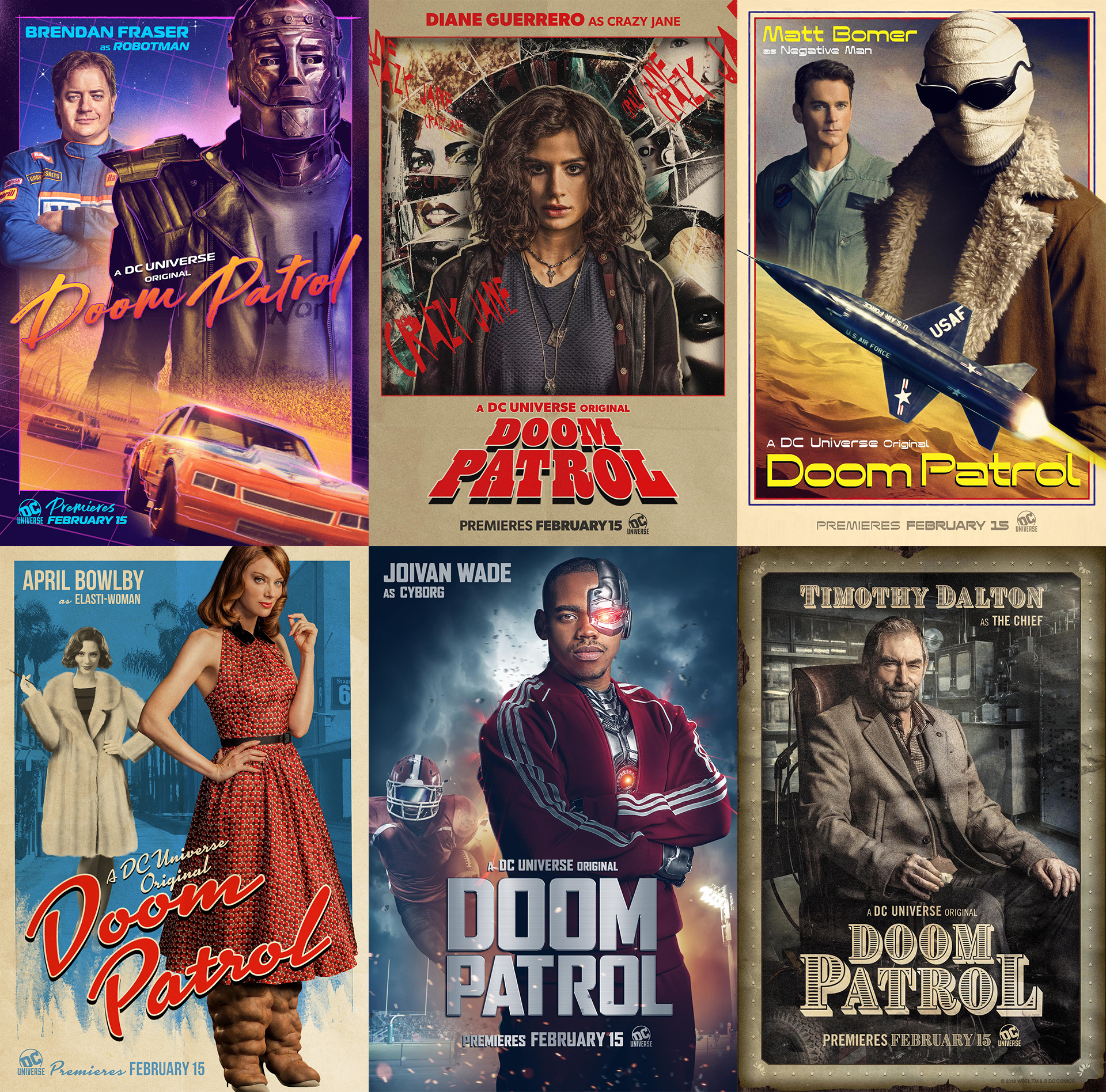 New Character Posters And Teaser Trailer For Doom Patrol